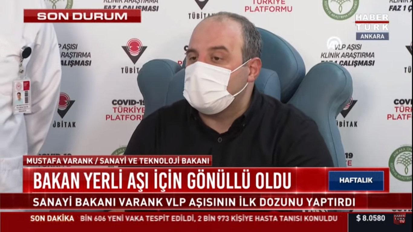 Bakan Varank VLP Aşısına Gönüllü Oldu