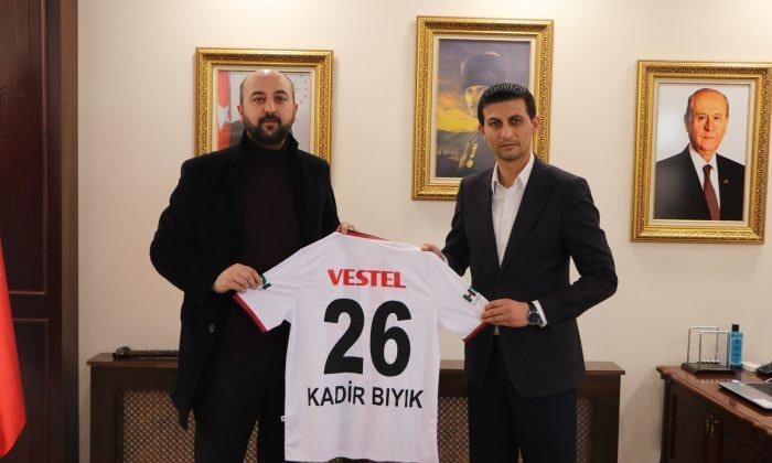 Eskişehirspor T.B. Başkanı Murat Diri,Kadir Bıyık'ı ziyaret Etti